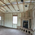 Using Spray Foam for a Country Home - Spraying foam on a great room