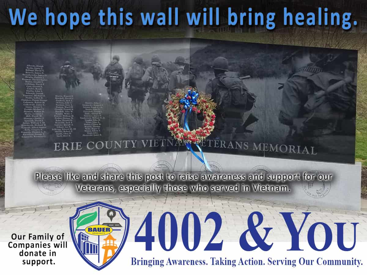 4002 & You April Campaign is the Erie County Veterans Memorial