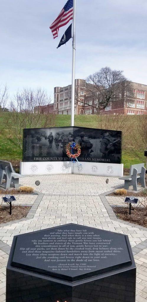 Erie-County-Veterans-Memorial near Collegiate Academy